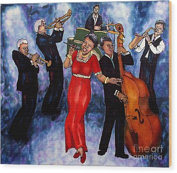 Jazz Band Wood Print by Linda Marcille