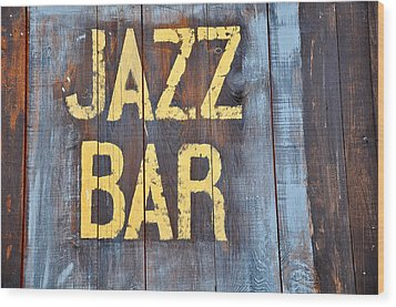 Jazz Bar Wood Print by Keith Sanders