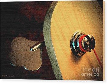 Jazz Bass Tuner Wood Print