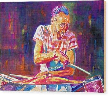 Jazz Beat Wood Print by David Lloyd Glover
