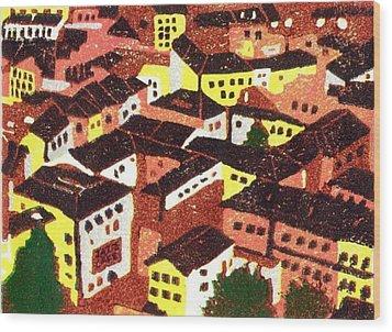 Jazz Cafe Wood Print