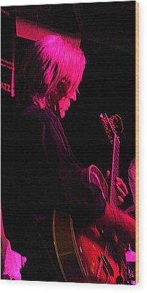 Wood Print featuring the photograph Jazz Guitarist by Lori Seaman