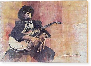 Jazz John Lee Hooker Wood Print by Yuriy  Shevchuk