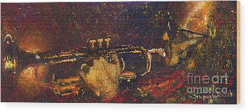 Jazz Miles Davis  Wood Print by Yuriy  Shevchuk