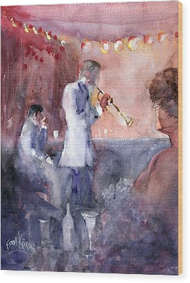 Jazz Nights Wood Print by Faruk Koksal
