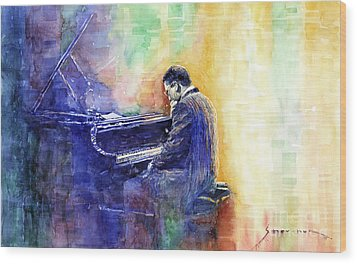 Jazz Pianist Herbie Hancock  Wood Print by Yuriy Shevchuk