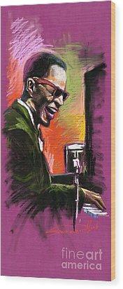 Jazz. Ray Charles.2. Wood Print by Yuriy  Shevchuk