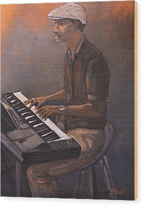 Jazz Wood Print by Reb Frost