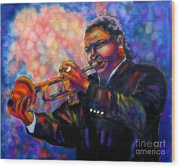 Jazz Solo Wood Print by Linda Marcille