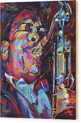 Jazz Trane Wood Print by Debra Hurd