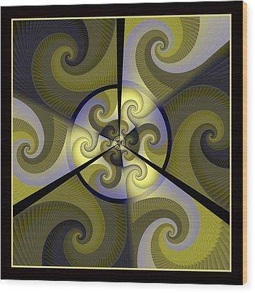 Jazz Transfusion Squared Wood Print by David April