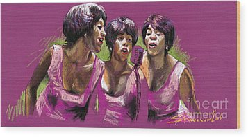 Jazz Trio Wood Print by Yuriy  Shevchuk