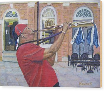 Jazzin It Up Wood Print by Richard Nowak