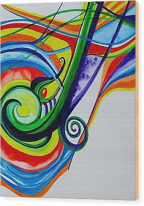 Jazzy Notes Wood Print