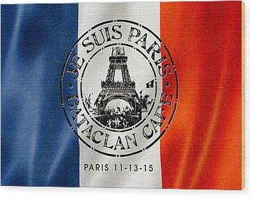 Je Suis Paris Wood Print by Gary Grayson
