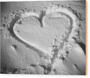Winter Heart Wood Print