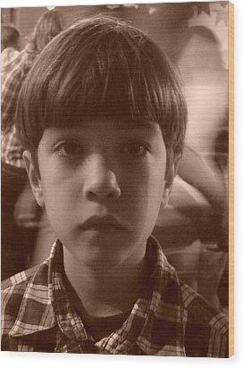 Wood Print featuring the photograph Jealous Boy by Beto Machado