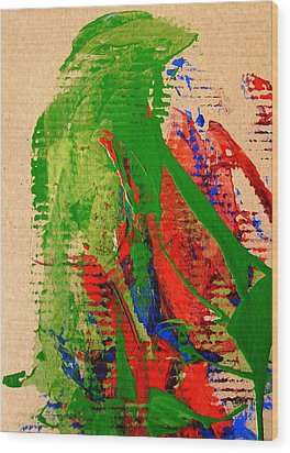 Jealous Cowboy Troubador Wood Print by Bruce Combs - REACH BEYOND