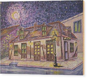 Jean Lafitte Blacksmith Shop Bourbon Street New Orleans Wood Print by Catherine Wilson