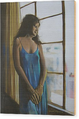 Jeanette Wood Print by Howard Stroman