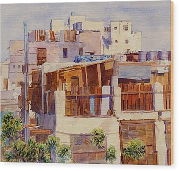 Jeddah Rooftops Wood Print by Dorothy Boyer