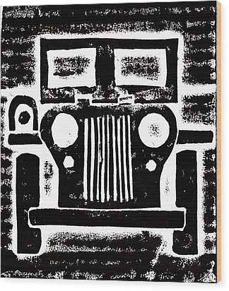 Jeep Wood Print by Jame Hayes