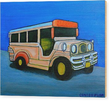 Jeepney Wood Print