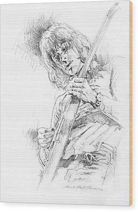 Jeff Beck - Truth Wood Print by David Lloyd Glover