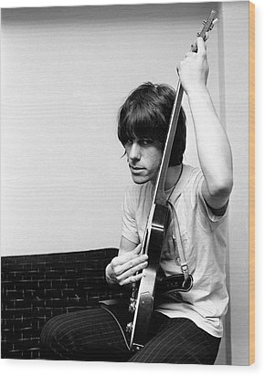 Wood Print featuring the photograph Jeff Beck 1966 Yardbirds by Chris Walter