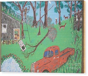 Jeff Bowhunting Wood Print by Jeffrey Koss
