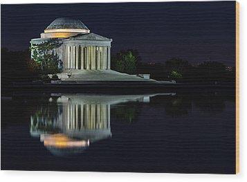 The Jefferson At Night Wood Print