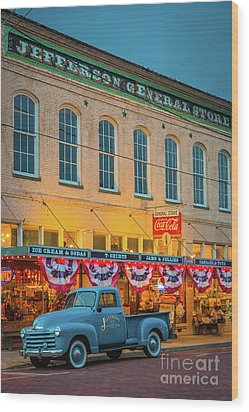 Jefferson General Store Wood Print by Inge Johnsson
