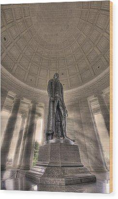 Jefferson Memorial Wood Print by Shelley Neff