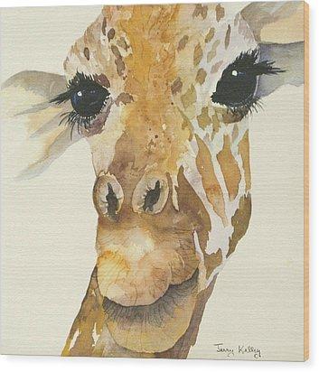 Jeffrey Giraffe Wood Print