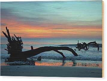 Wood Print featuring the photograph Jekyll Island Sunrise 2016a by Bruce Gourley