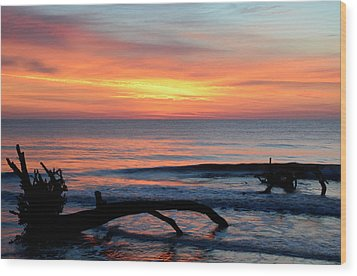 Wood Print featuring the photograph Jekyll Island Sunrise 2016b by Bruce Gourley