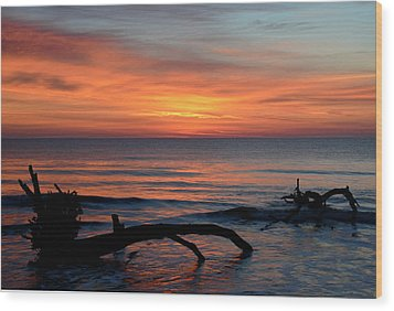 Wood Print featuring the photograph Jekyll Island Sunrise 2016c by Bruce Gourley