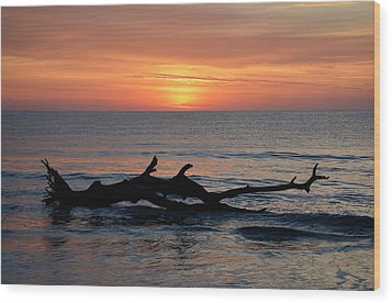 Wood Print featuring the photograph Jekyll Island Sunrise 2016d by Bruce Gourley