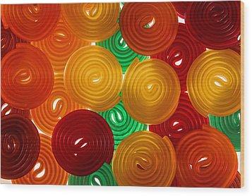 Jello Wood Print by Bobby Villapando