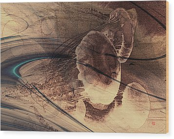 Jelly Fish 2 Wood Print by David Jenkins