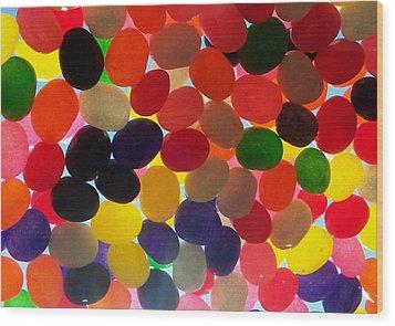 Jellybeans Wood Print by Anna Villarreal Garbis