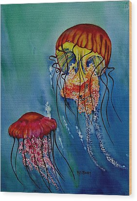 Jellyfish Wood Print