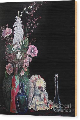 Jenibelle Wood Print by Jane Autry