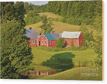Wood Print featuring the photograph Jenne Farm Reflection by Susan Cole Kelly