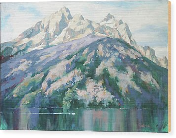 Jenny Lake Wood Print by Carol Strickland
