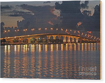 Jensen Beach Causeway Wood Print by Tom Claud