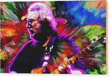 Jerry Garcia Grateful Dead Signed Prints Available At Laartwork.com Coupon Code Kodak Wood Print by Leon Jimenez