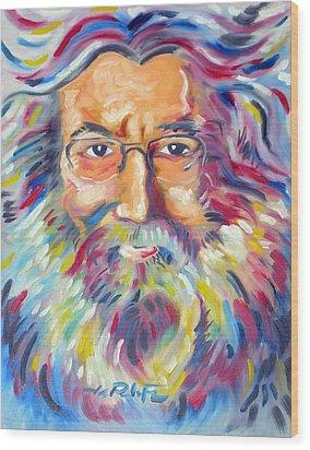 Jerry Garcia Wood Print by Joseph Palotas