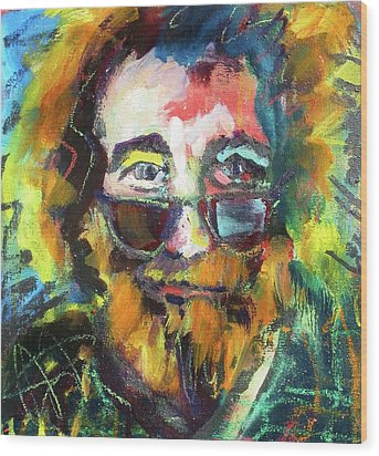 Jerry Garcia Wood Print by Les Leffingwell