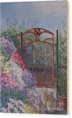 Wood Print featuring the painting Jerrys Garden by Stanza Widen